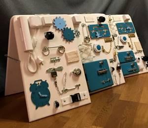 Бизиборд своими руками: 5 простых шагов изготовления, обзор идей и фото с вариантами