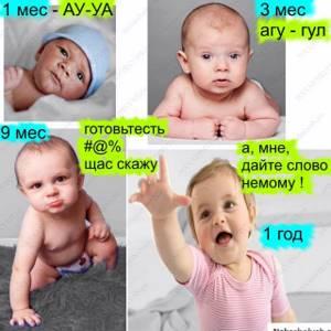 Когда ребенок начинает гулить и агукать: этапы произношения звуков и как научить малыша говорить?
