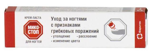 Микостоп крем-паста для ногтей: инструкция по применению, формы выпуска и состав, действующие вещество, противопоказания и побочные реакции, аналоги, цена и отзывы