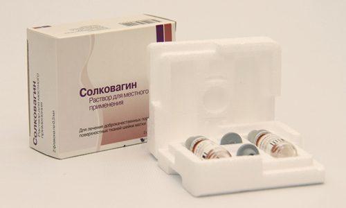 Солковагин при эрозии шейки матки: эффективность лечения